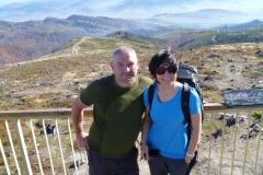 na wieży widokowej na szczycie Baraniej Góry