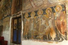 pięknie wymalowany przedsionek cerkwii św. Bogurodzicy