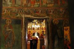 cerkiew niestety była zamknięta, ale udało się zrobić zdjęcie wnętrza przez szparę w drzwiach