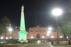 Plaza de Mayo nocą