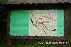tablica przedstawiająca walki toczące się w okolicy Jamnej