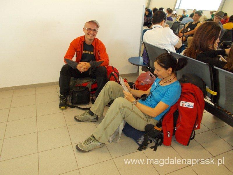 z Michałem Jarczyńskim na lotnisku w Berlinie