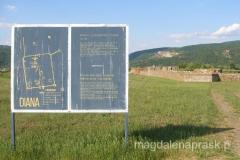 tablica z planem ruin Diana