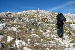 ostatnie metry do szczytu - już widać słupek