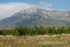 masyw Dinara widziany z drogi głównej Split - Knin