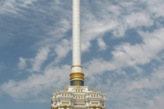 jeden z symbolicznych pomników w centrum Duszanbe