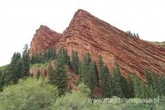 formacja skalna Siedem Byków tu na razie widoczne tylko dwa z nich