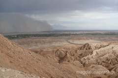 Chile - Pustynia Atakama - burza piaskowa nadchodzi