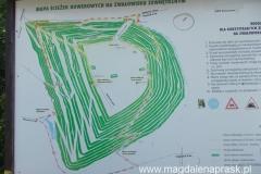 na Górze Kamieńskiej wyznaczono kilka szlaków rowerowych