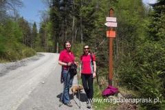 miejsce gdzie schodzimy z drogi w Dolinie Potasznia - teraz kierować nas będzie szlak narciarski
