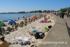 plaża w centrum miasta