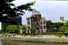 szkielet Genbaku Dome - jedyna pozostałość sprzed wybuchu bomby atomowej