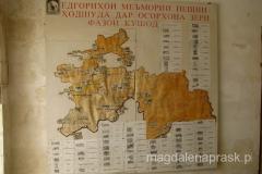 sytuacyjna mapka historycznych obiektów zlokalizowanych w regionie