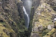 Glymur- wodospad w całej okazałości-198m