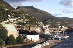 Norwegia - okolice Bergen - starówka w Bergen