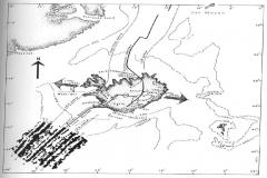 Mapa-przebieg pękniecia oceanicznego