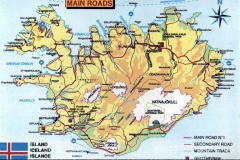 Islandia - mapa