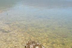 wody jeziora choć zimne są bardzo czyste