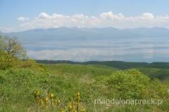 Jezioro Prespańskie - widok ze stoków masywu Galicica