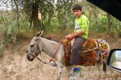 jadąc przez Tadżykistan spotykaliśmy wielu jeźdźców na osiołkach