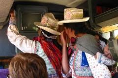 kapelusz słomkowy jest charakterystyczny dla mieszkanek Chivay