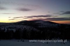 zachód słońca widziany ze schroniska Odrodzenie