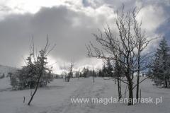 w okolicy schroniska Pod Łabskim Szczytem - pogoda zaczyna się nam psuć