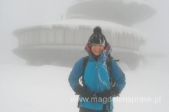 na szczycie Śnieżki 1.602m npm