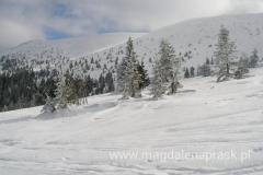 piękne pasmo główne Karkonoszy - w zimowej szacie