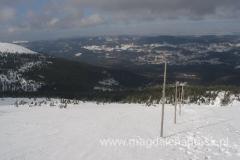 ponad schroniskiem Pod Łabskim Szczytem - widok na Kotlinę Jeleniogórską