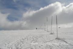 droga zimowa prowadząca na grań do Ceska Budka