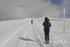 podążając czerwonym szlakiem w kierunku Śnieżnych Kotłów
