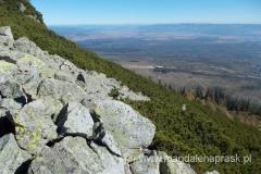 podążając Tatrzańską Magistralą do Skalnate Pleso podziwiamy piękne widoki rozciągające się aż po horyzont