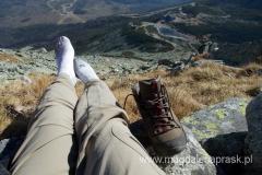 odpoczynek w drodze na Huncowski Szczyt