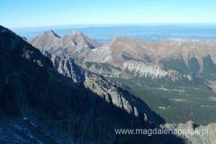 na wierzchołku Huncowski Szczyt (2.352m npm); widok na Tatry Bielskie
