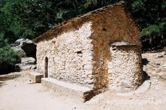 strażnica św. Mikołąja - ten niepozorny kamienny budynek to jedyny tego typu obiekt w Wąwozie Samaria
