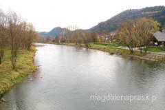 Rzeka Dunajec na wysokości Krościenka jest ciągle jeszcze typowo górską rzeką. Czysta, dobrze natleniona woda stwarza dogodne warunki dla żyjących tu ryb.