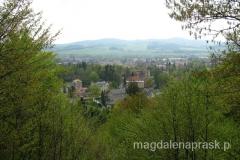 widok z Góry Parkowej na Kudowę