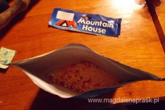 pudding ryżowy z truskawkami czyli liofilizat na śniadanko o godz 5.00 rano