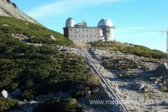 budynek obserwatorium astronomicznego na Skalnate Pleso