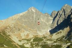 Łomnica; na szczyt można się dostać kolejką linową