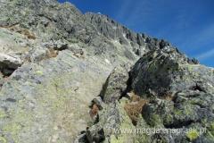 droga prowadząca na szczyt Łomnicy jest dość trudna orientacyjnie