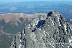 na szczycie Łomnicy (2.634m npm) - widok na Kieżmarski Szczyt (zdobyty wczoraj)
