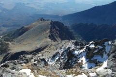 widok z Łomnicy w kierunku przełęczy Lomnicke Sedlo