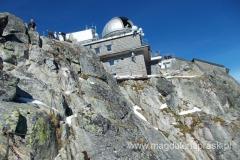 budynek stacji kolejki, obserwatorium astronomicznego i restauracji w jednym