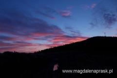 wschód słońca - widok z Hali Krupowej na Okrąglicę