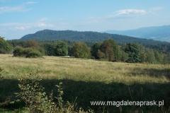 widok na Luboń Wielki z osady Surówki