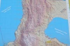 mapa sytuacyjna - rzut na oba jeziora oraz pomiedzy nimi Park Narodowy Galicica