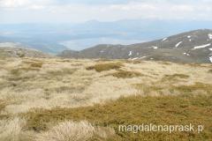 góry Galicica a w dole Jezioro Prespańskie