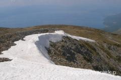na szczycie Magoro 2.255m npm - a w dole Jezioro Ochrydzkie